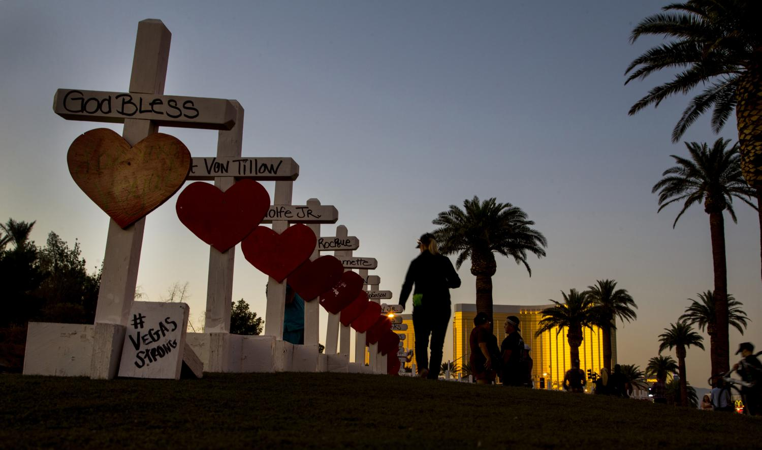 Illinois native Greg  Zanis homemade crosses to pay tribute to the victims of the tragedy.