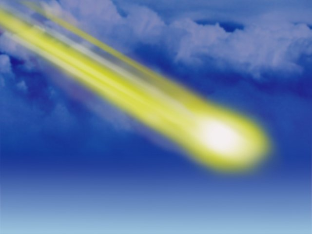 Graphic+of+a+meteor+flying+through+the+sky.