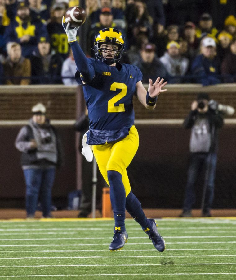 Michigan+Quarterback%2C+Shea+Patterson%2C+played+a+huge+part+in+the+victory+against+rivals+Michigan+State.