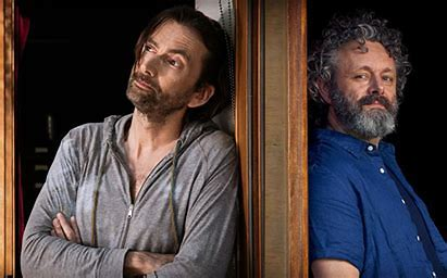 David Tennant (left) and Michael Sheen in Staged